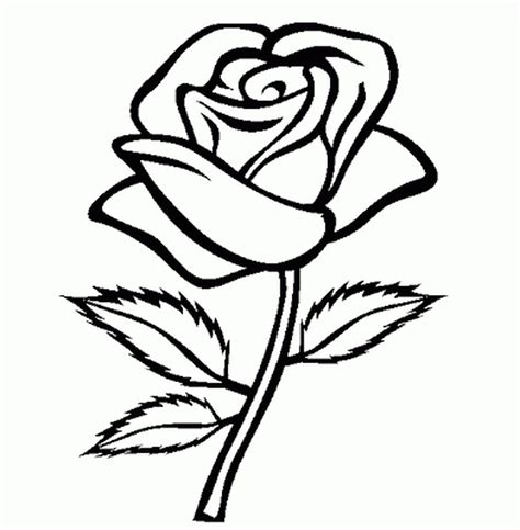 simple flower coloring pages flower coloring pages image