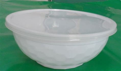 Pet Tray Salad 750ml 950ml 1000ml 1050ml plastic white soup noodle bowl from