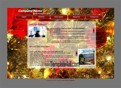 christmas themes websites red christmas flash website template