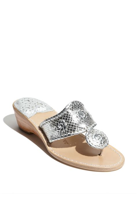 rogers sandals silver rogers sardinia wedge sandal in silver lyst