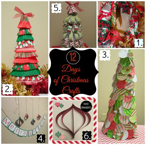 12 days of christmas crafts day 3 paper circle christmas