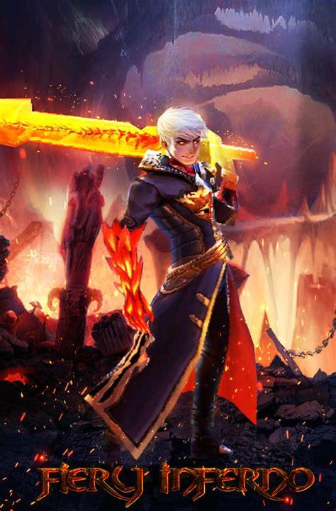 wallpaper mobile legend skin fiery inferno skin alucard of mobile legends by laxzear on