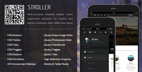 themeforest appbar mobile tablet responsive template stroller mobile tablet responsive template mobile