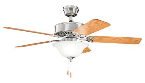 brushed steel ceiling fan with light kichler three light brushed stainless steel ceiling fan