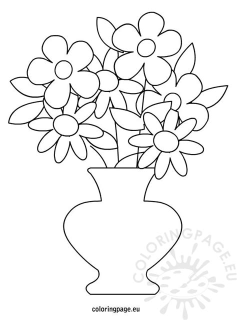 coloring page of a flower pot free coloring pages of flower pot out line