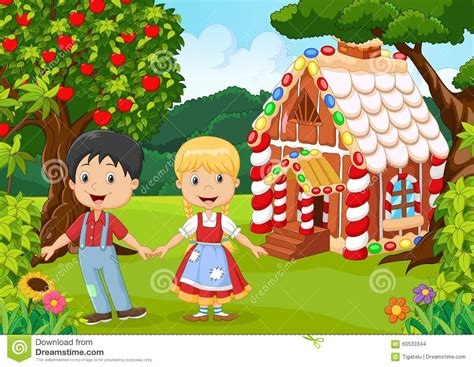 Traditional 2 Story House Plans by Classic Children Story Hansel And Gretel Stock Vector