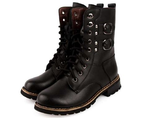 best black boots for us size 5 9 black leather casual lace up womens
