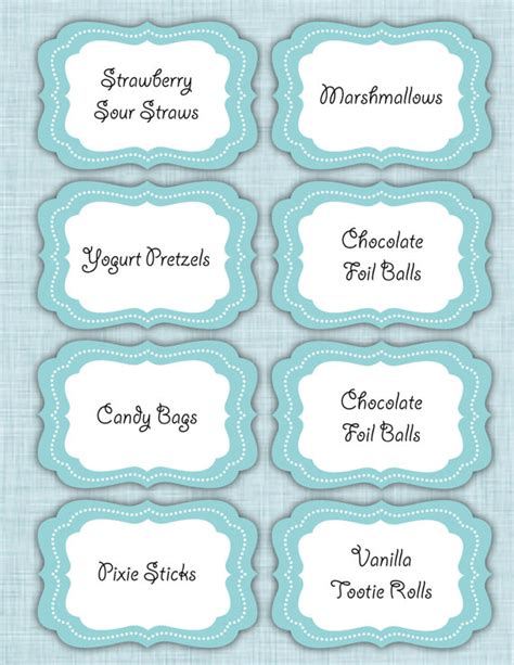 chocolate bar label template 6 best images of bar tags printable template free