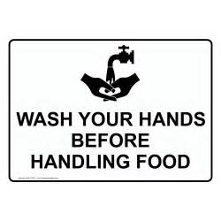 Wash your hands before handling food symbol sign nhe 15610 wash hands