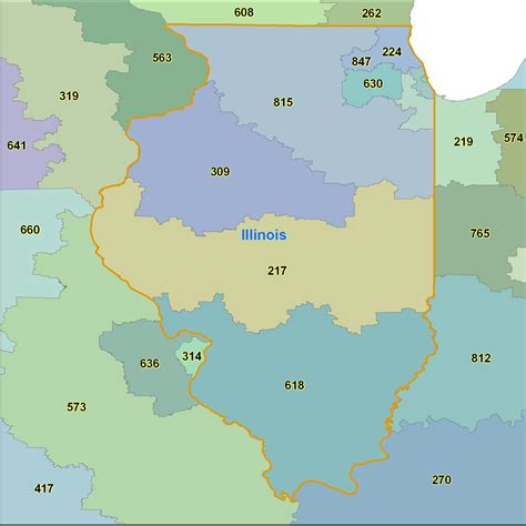 printable area code list by number area code map for illinois my blog