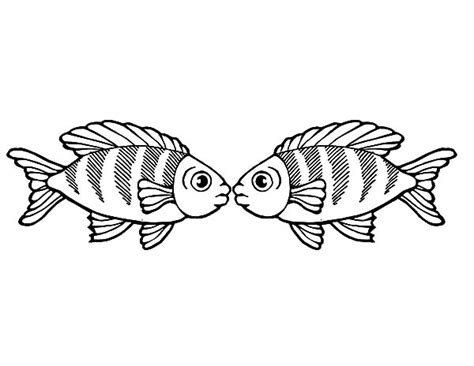 kissing fish coloring page free coloring pages of kissing lips
