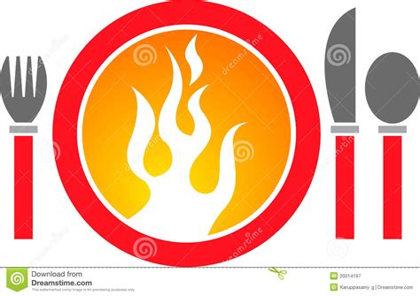 Hot dinner logo stock vector. Image of flame, appetite