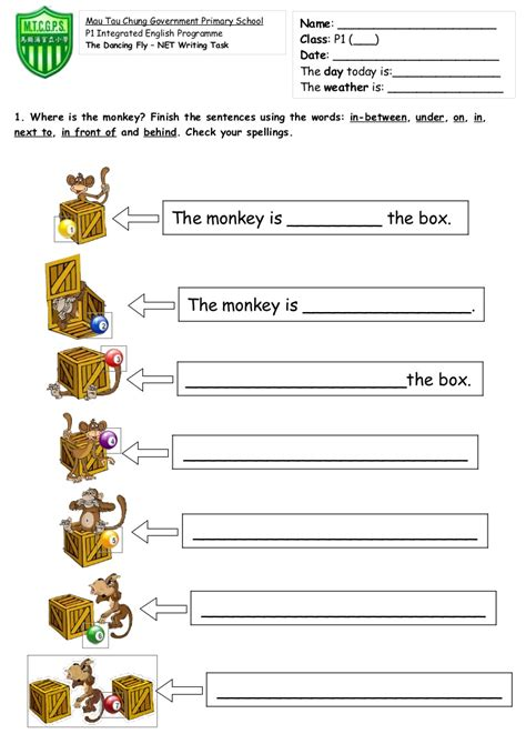 Preposition Worksheets by 28 Prepositions Kindergarten Worksheets Preposition