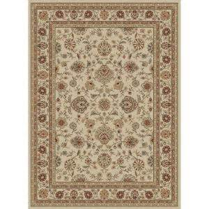 Home Depot 5x7 Area Rugs Tayse Rugs Elegance Ivory 5 Ft X 7 Ft Traditional Area Rug 5142 Ivory 5x7 The Home Depot