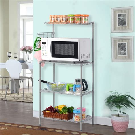 Microwave Oven With Metal Rack by Langria 3 Tier Baker S Rack Microwave Oven Rack With Shelf