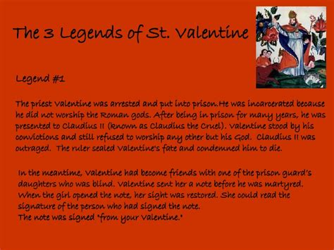 what is the story of day valentines day