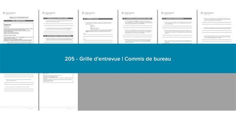 commis de bureau grille d entrevue commis de bureau 201 mergence strat 232 ge