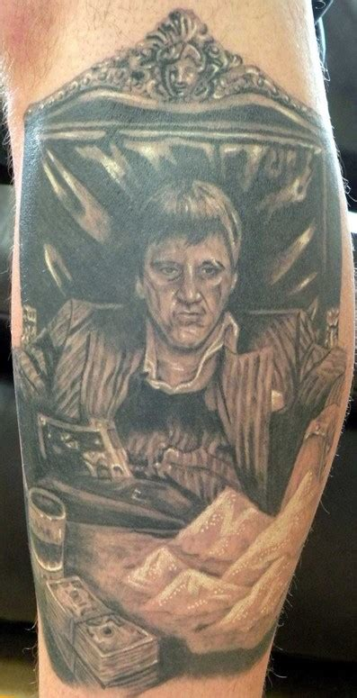 scarface tattoos scarface black and gray by mathew hays tattoonow