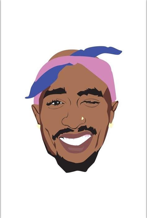 illustration tupac shakur tupac art rapper art pac art