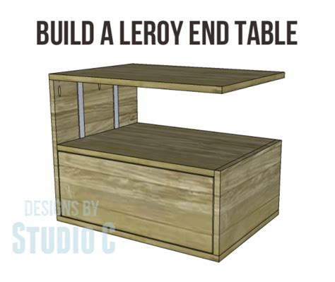 free woodworking plans end table build a leroy end table