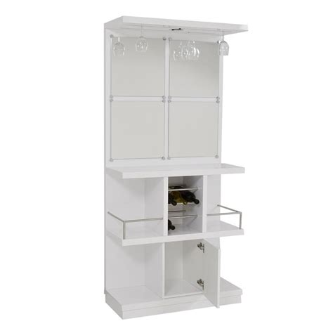 White Bar Cabinet Nostran White Bar El Dorado Furniture