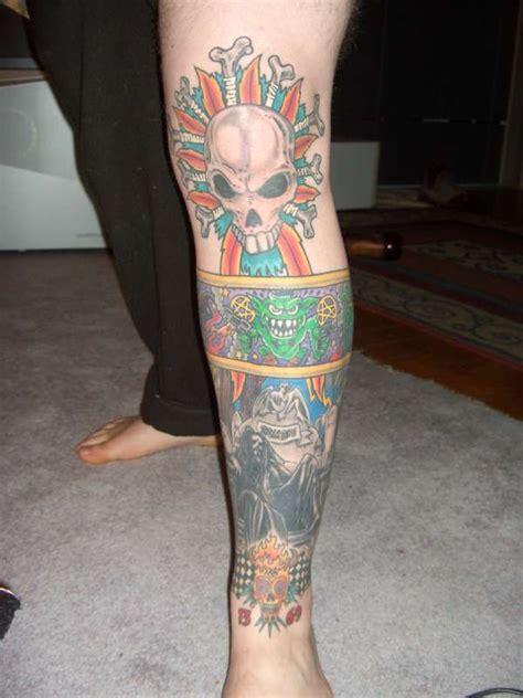 front zombie leg tattoo
