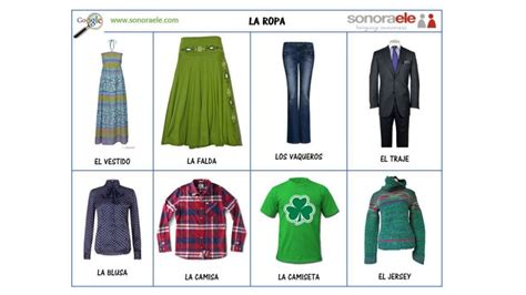pictosonidos la ropa y complementos aprender espa 241 ol spanish 4 all sek qatar