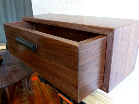 floating nightstand with drawer diy custom walnut maple ebony floating nightstand wall shelf