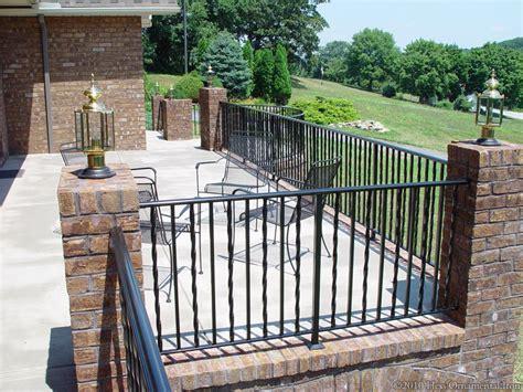 lovely iron deck railing 6 wrought iron deck railings