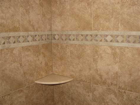 Ceramic Tile Shower Shelf by Ceramic Tile Stall Shower With Mosaic And Marble