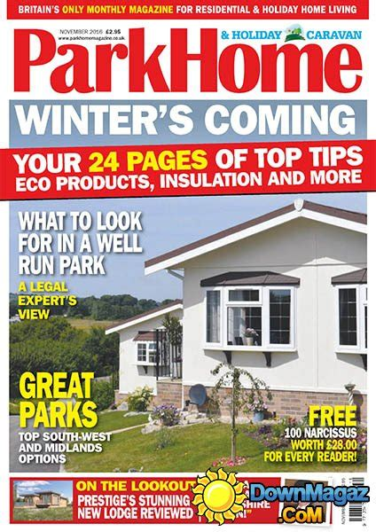 home and design magazine 2016 park homes holiday caravan november 2016 187 download pdf magazines magazines commumity