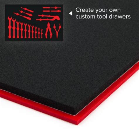 Foam For Tool Boxes Drawers by U Cut Custom Foam Organizers For Toolbox Drawers 16 X22