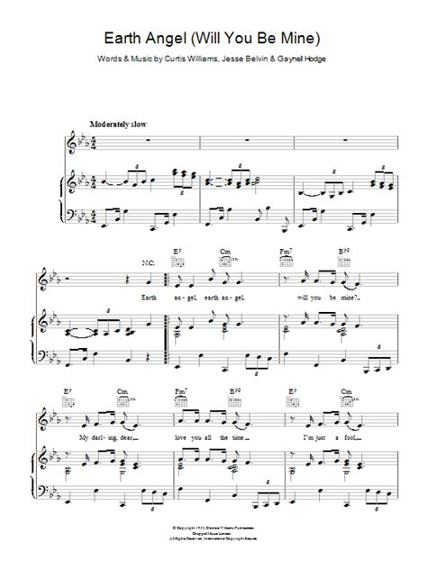 angle song earth angel sheet music direct