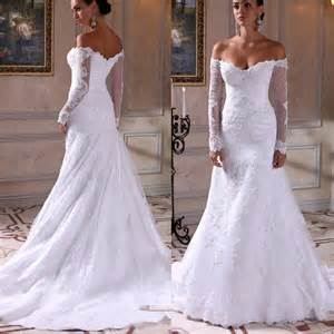 2016 wedding mermaid dress with long sleeve