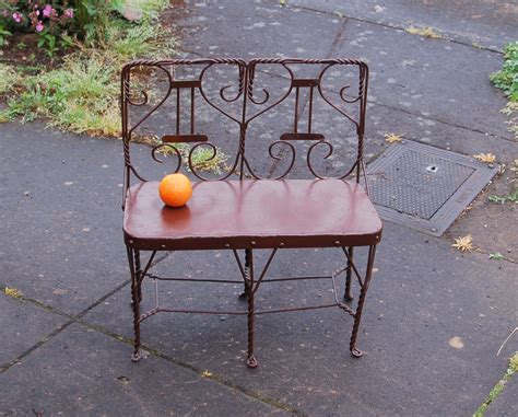 ice cream bench rare child s ice cream parlor twisted wire 2 seater bench
