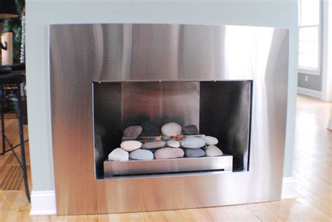 Gas Fireplace Makeover by Modern Fireplace Makeover