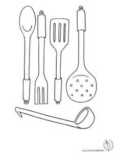 Kitchen Utensils Pictures To Color Print Cooking Utensils For Coloring