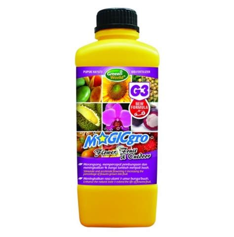 Pupuk Untuk Bunga Buah pupuk magicgro bunga buah g3 100 organic 1 liter