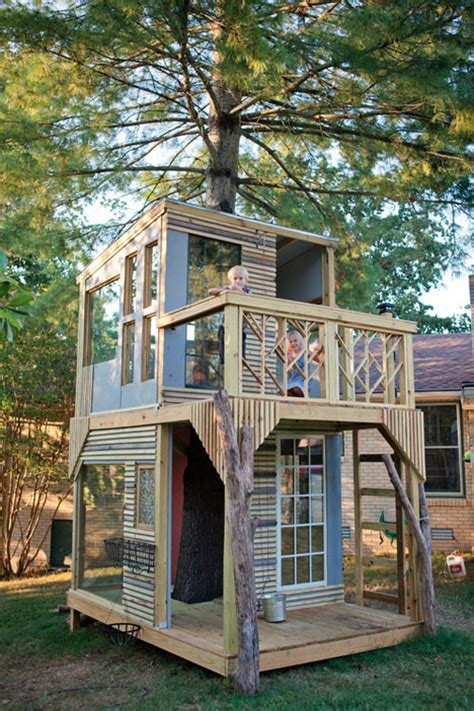 backyard treehouse for kids modern tree houses 14 awesome arboreal dwelling designs urbanist