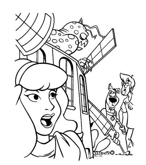 scooby doo coloring pages monsters scooby doo monsters coloring pages monster hiding in a