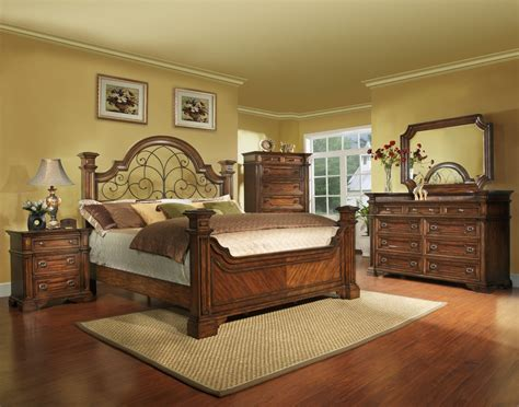 king size bedroom sets king size antique brown bedroom set with iron wood free shipping