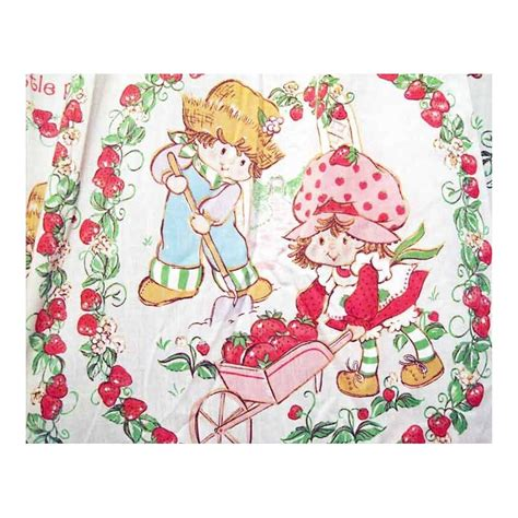 strawberry shortcake curtains strawberry shortcake curtains with sewn on valance