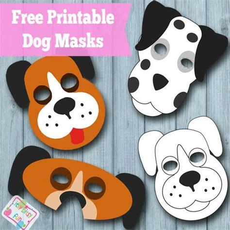 free printable animal eye masks printable dog mask free template pets punch out and