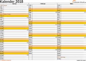 Kalender 2018 Querformat Jahreskalender 2018 Zum Ausdrucken Kostenlos Calendar