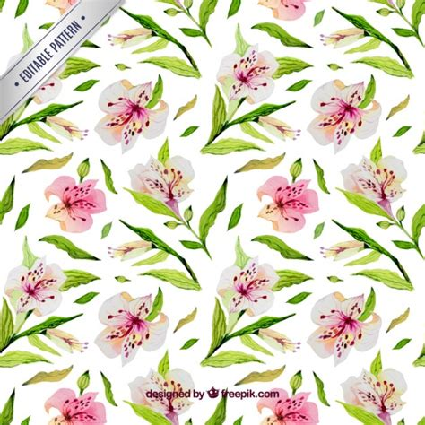 watercolor flowers pattern vector free download watercolor floral pattern vector free download