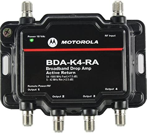 motorola signal booster 4 port cable modem tv hdtv lifier import it all