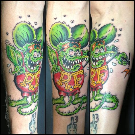 rat fink tattoo traditional rat fink tattooed by chris