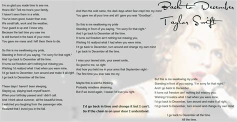 taylor swift back december lyrics taylor swift back to december lyrics by sapphire