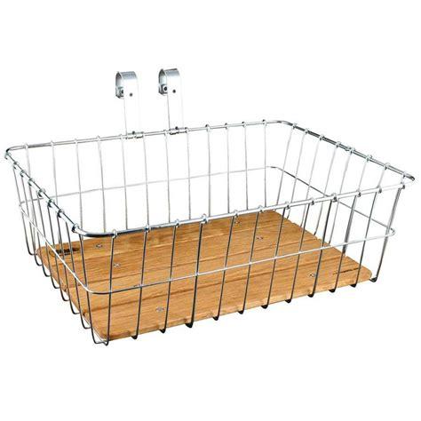 wald racks wald 139ww standard large front bike basket woody silver ebay