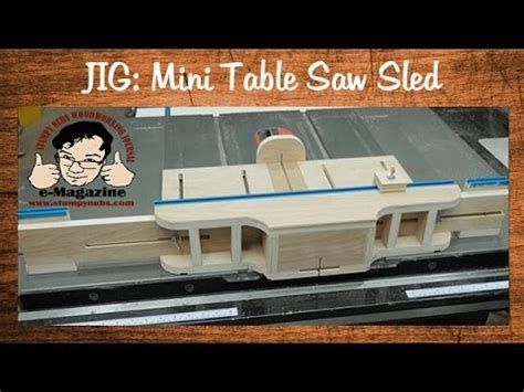 mini table  sled  joinery jig attachments